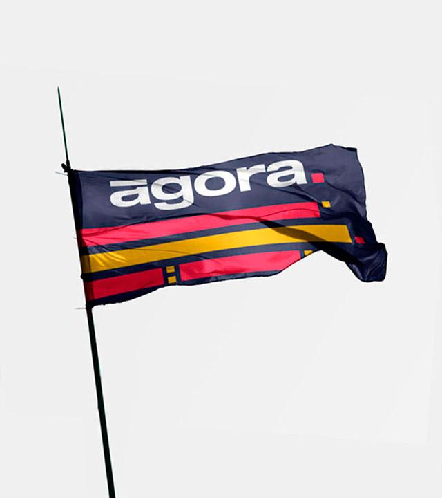 Bandera identidad corporativa Agora 2