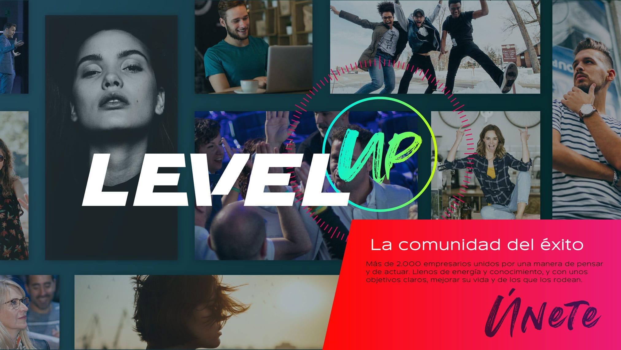 Level UP identidad corporativa comunidad