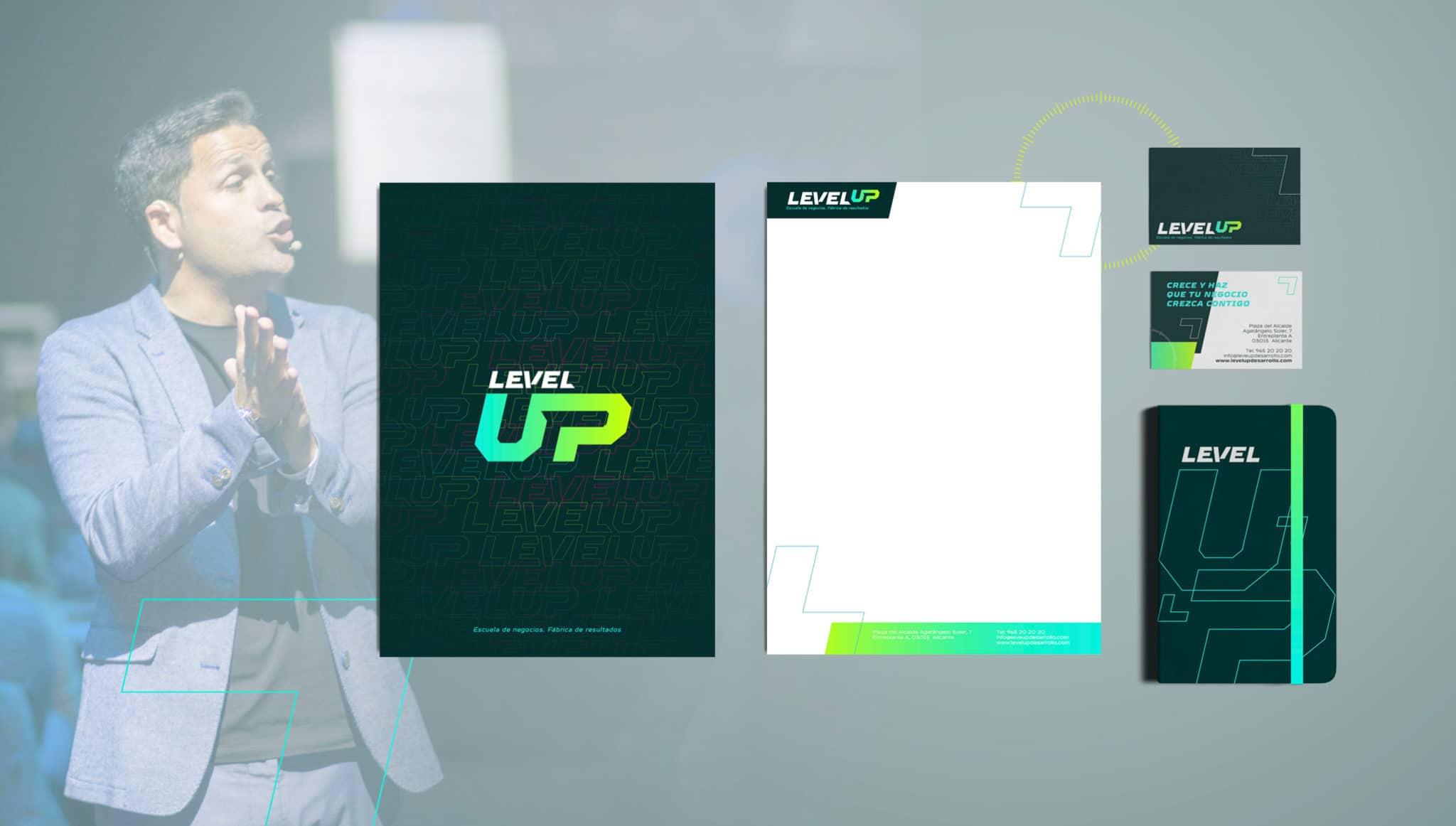 Stationery LevelUP Identidad Corporativa alicante 1 scaled