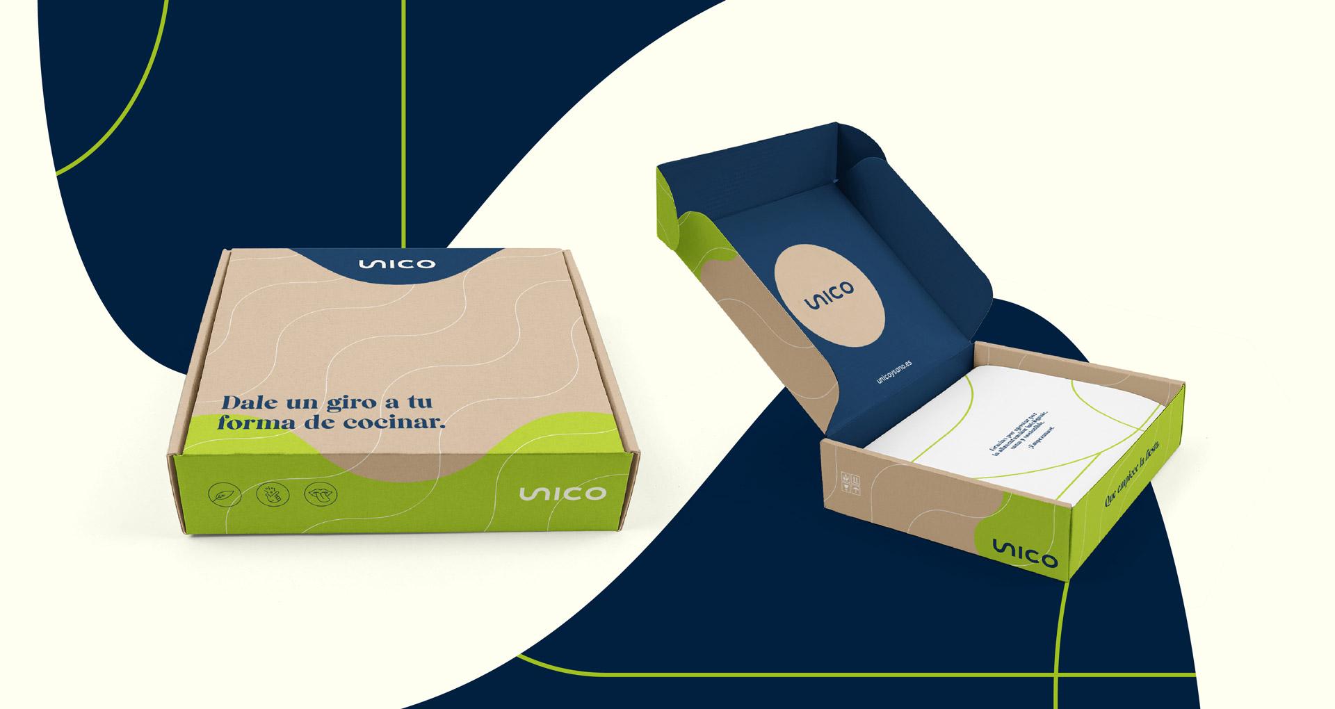 packaging unico identidad visual behind 1
